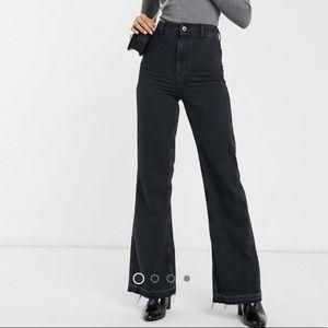 Free People Women's Jeans Black Size 31X32